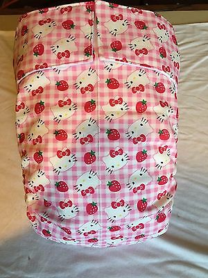 Adult Diaper,Extra Padding, Fully Functional All in One, Hello Kitty, Pink