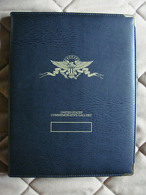 1999-2004 Gold Plated State Quarter Collection. Black Leather Binder, 27 Coins