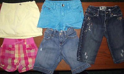 Girls Size 8 Lot Of 5 Shorts/skorts Name Brands Include Justice, Gap, Old Navy