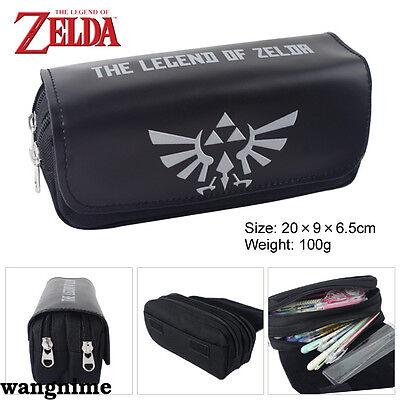 The Legend of Zelda Bifold Wallet Winged Triforce Logo Black Coin Purse Cos Gift