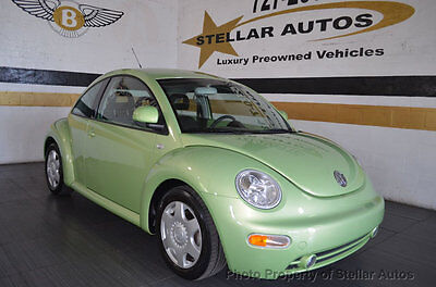 1999 Volkswagen Beetle-New GLS 1 OWNER 9K MILE CLEAN CARFAX WARRANTY FREE SHIPPING US PWR PKG AUTO FLORIDA CAR