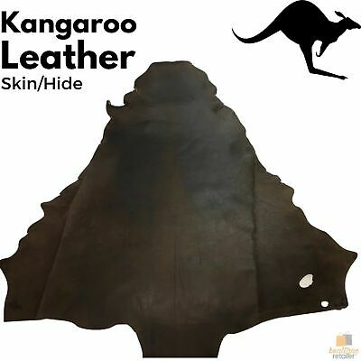 KANGAROO LEATHER HIDE Skin Brown Stonewash Chrome Tanned Finish New