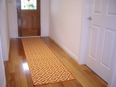 Hallway Runner Hall Runner Rug Modern Orange 3 Metres Long FREE DELIVERY 68543