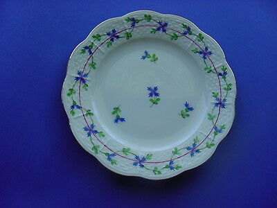 HEREND BLUE GARLAND  Bread & Butter Plates  Sold Individually 8 available.