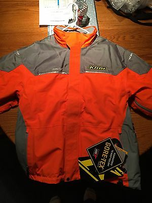Mens Size 2XL XXL Klim Klimate Parka Snowmobile Coat Winter Snow Jacket Orange