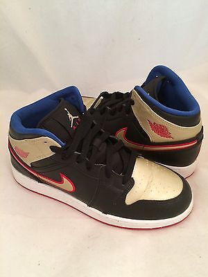 🔥Boy's Nike Air Jordan 1 Retro  Basketball 🏀Shoes 554725-013 Youth Size 5Y🔥