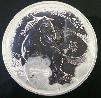 Silver Bullion 1 oz Year of the Horse 2014 Great Britain £2 coin