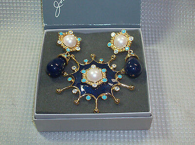 Jose' Maria Barrera for Avon Roman Holiday Brooch Pendant Clip Earrings Pristine