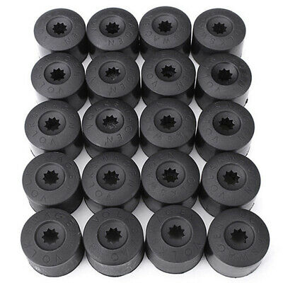 New 20pcs 17mm Wheel Lug Nut Bolt Cap Dust Cover+Hook Kit For VW Volkswagen