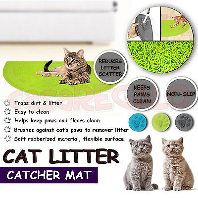 CAT LITTER CATCHER MAT Litter Trapper Mat Food Mat Kitty Litter Catcher