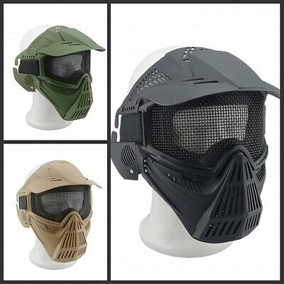 Full Face Mask CS Game Airsoft Paintball Mesh Goggles Archery Outdoor Sports