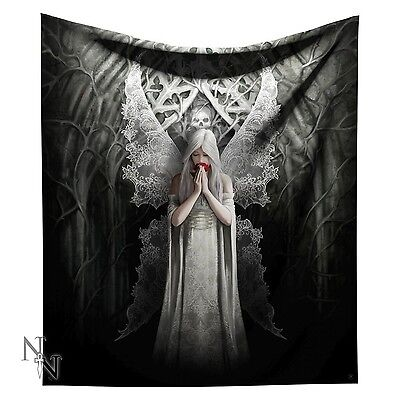 Only Love Remains Gothic Angel Throw Snuggle Blanket By Anne Stokes