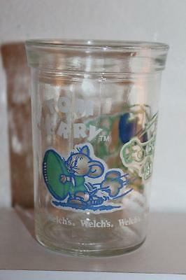 Vtg 1991 Turner Entertainment WELCH'S Tom & Jerry Small Jelly-Jar JUICE GLASS
