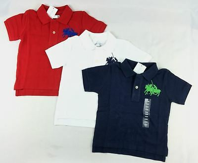 Ralph Lauren Baby Boys Dual Match Cotton Polo Shirt Top Sizes 18, 24 Months