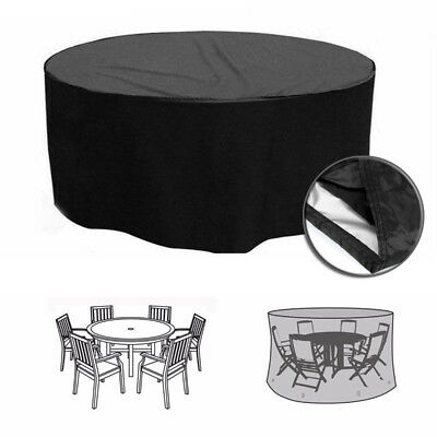 Heavy Duty Outdoor Garden Furniture 4/6 Seater Round Table Chair Protector Cover