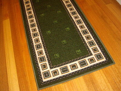 Hallway Runner Hall Runner Rug Modern Green 6 Metres Long FREE DELIVERY 43845