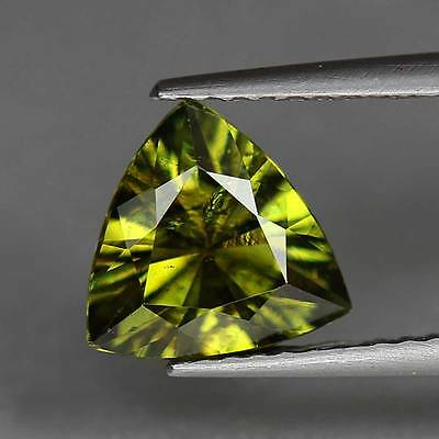 1.55Cts-Trillion Cut-Natural-Demantoid Garnet-Greenish Yellow-Namibia-GS304