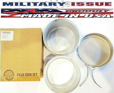 Military Issue Mess Kit Stainless Steel Squad Cook Set NSN:7360-00-272-2485 NEW!