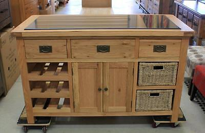 Grange Oak Timber Kitchen Island (Brand New) #3581
