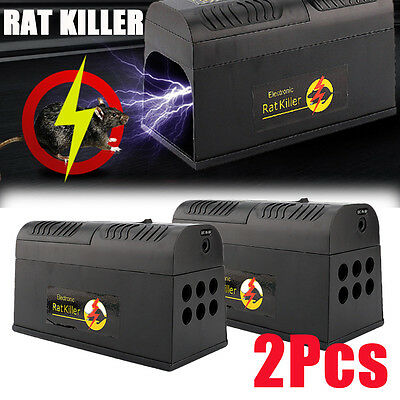 2Pcs Rodent Killer High Voltage Electronic Mice Rat Mouse Repeller Electric Trap
