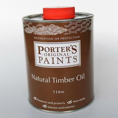 Porters Natural Timber Oil Decking & Wood Care Paint Painting