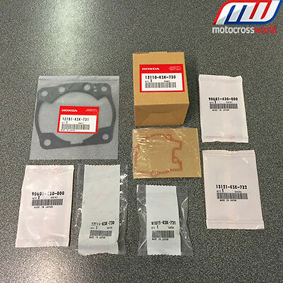 BRAND NEW In The Box Complete Genuine OEM Honda Piston Kit for CR250 2005-2007