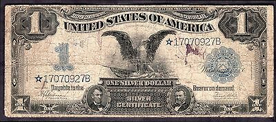 Silver Certificate. One Dollar Replacement, *17070927B, series 1899, Very Good.