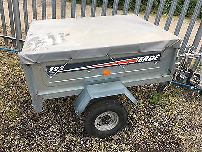 Erde 122 Camping 400kg Trailer With Cover, Jockey Wheel and Spare Wheel