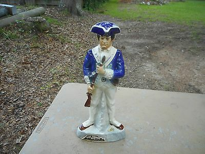 Vintage Ezra Brooks 1975 Soldier Cavalry Blue Coat Bottle Decanter Empty