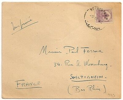 Cover Beyrouth Liban Universite Saint Joseph 1948 To France. L943.