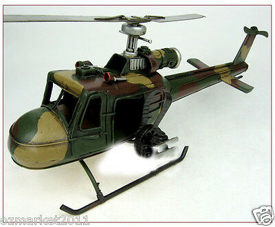 * 1962 United States Gunship Decoration Filming Props Amry Green Aircraft Model