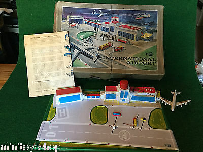 Biller / Technofix International Airport Blechspielzeug Vintage  W. Germany ovp