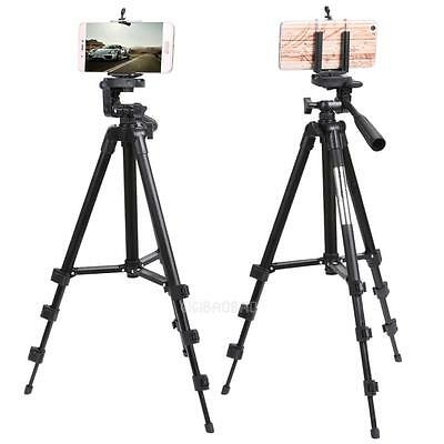 New Professional Camera Tripod Stand Holder For Smart Phone iPhone Samsung Black