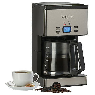 Koolle 1000 Watt 15 Cup Digital Filter Coffee Maker Programmable Reusable Filter