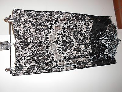 Black lace lined skirt with mixi high low style BNWT size 12