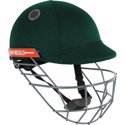 2018 Gray Nicolls Atomic Bottle Green Cricket Helmet - Steel Grill