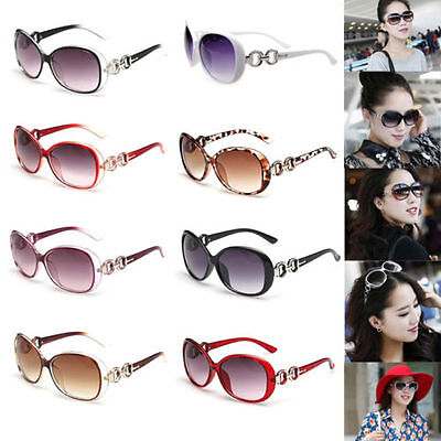 Hot Retro Vintage Women Shades Oversized Eyewear Classic Designer Sunglasses TT