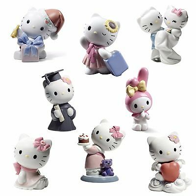 Nao by Lladro Hello Kitty Set of 8 #1793,1695,1798,1751,1750,1696,1663,1662 NEW