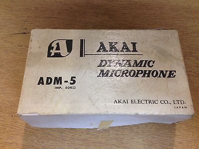 Akai ADM-5 Dynamic Microphone For Reel To Reel Tape Recorder