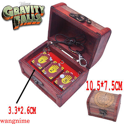 Gravity Falls Journal 1 2 3 Necklace Keychain Metal Pendant With Box