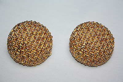 Vintage Georges Rech Gold Tone Costume/Statement Earrings