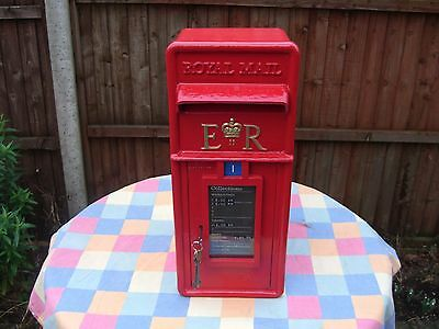 "Post Office ""Royal Mail"" Genuine & complete cast iron Frontage GPO Post Box"