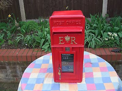 "Royal Mail ""Post Office"" Genuine & complete cast iron Frontage GPO Post Box"