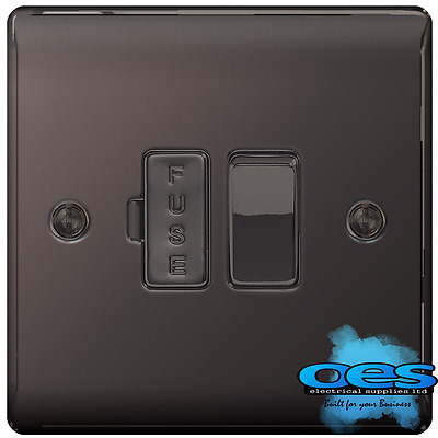 BG Nexus NBN50 Polished/Black Nickel Switched Fused Spur Connection Unit