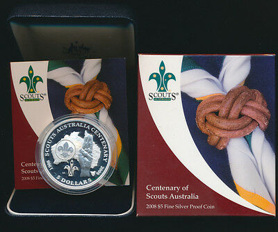 Australia 2008 $5 Silver proof 1.167oz Year of Scouts Cat $90