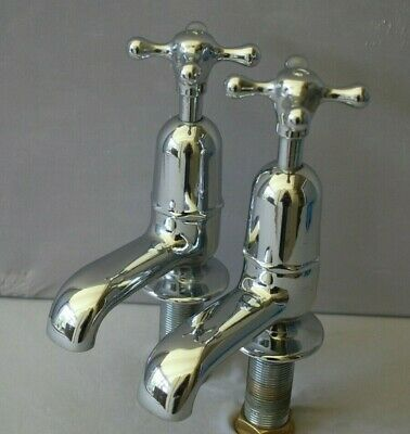 Old  Bath Taps Large Chrome Reclaimed & Recycled Old Stunning Retro Taps