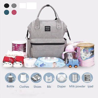 AU Fashion Nappy Mummy Backpack Diaper Bags Baby Newborn Tote Shoulder Bag I5