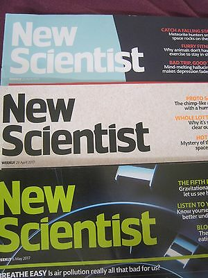 New Scientist Magazines April/May 2017 3 editions