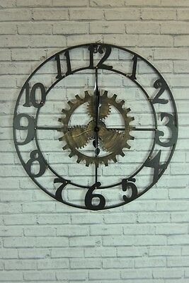 Wall Clock Metal Works Industrial style  Cut Out Bronze Brown Wall Clock