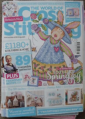 The World of Cross Stitching Magazine No 228 + FREE GIFT in excellent condition